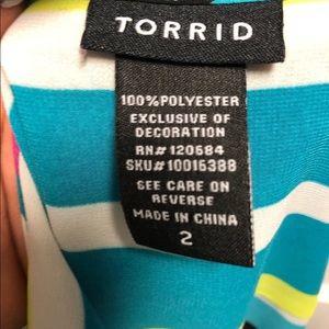 torrid Tops - Torrid Tropical Colored tank/cami. Semi sheer.